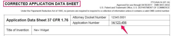 Corrected Application Data Sheet